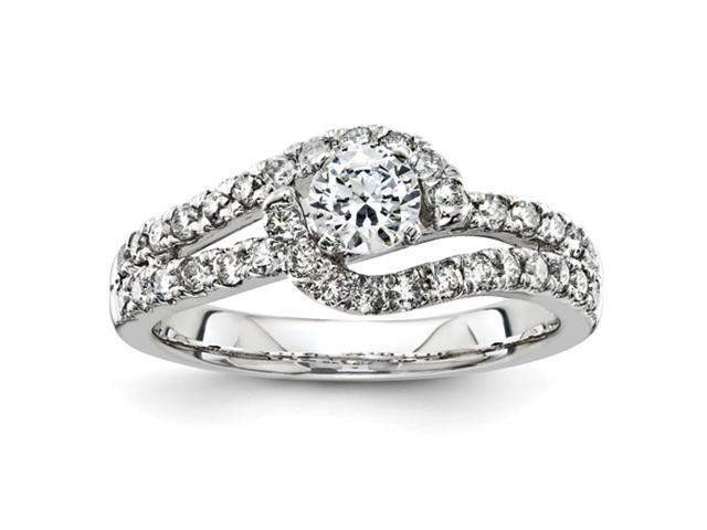 14k White Gold Diamond Engagement Ring Diamond quality AA (I1 clarity, G-I color)