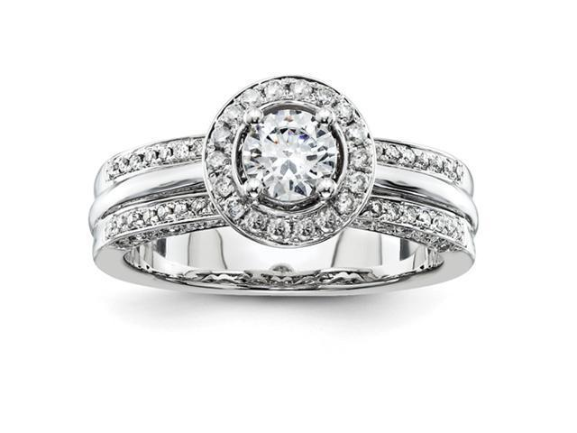 14k White Gold Diamond Engagement Ring Diamond quality AA (I1 clarity, G-I color)