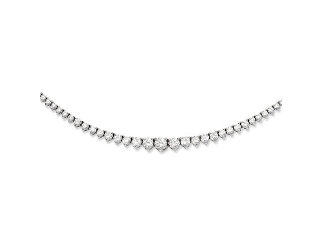 Sterling Silver Rhodium Plated with CZ Necklace