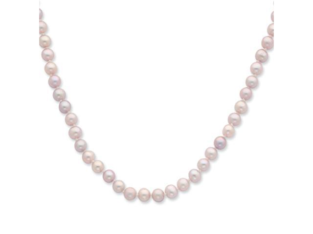 Sterling Silver 5-6mm Purple Freshwater Cultured Pearl Necklace
