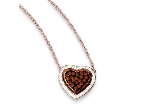 Sterling Silver Rose Gold Plated Stellux Crystal Heart Necklace