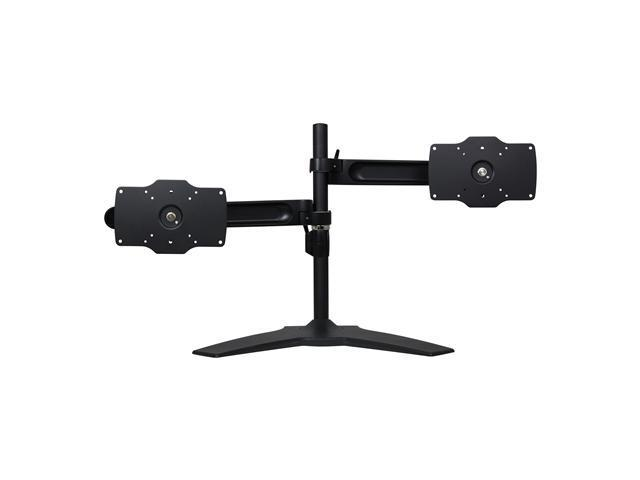 Dyconn DE732S-S (Vangaurd Series) Double TV/Monitor Desk Mount Stand with Independent Arm Height Adjustment - Supports Up To 24-32
