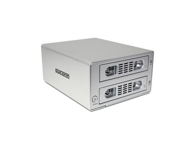 """Dyconn Quartz 2 - Dual 3.5"""" SATA HDD 2-bay RAID Enclosure (Normal, RAID 0, RAID 1, Big/Large/Combine) to USB 3.0 & eSATA"""