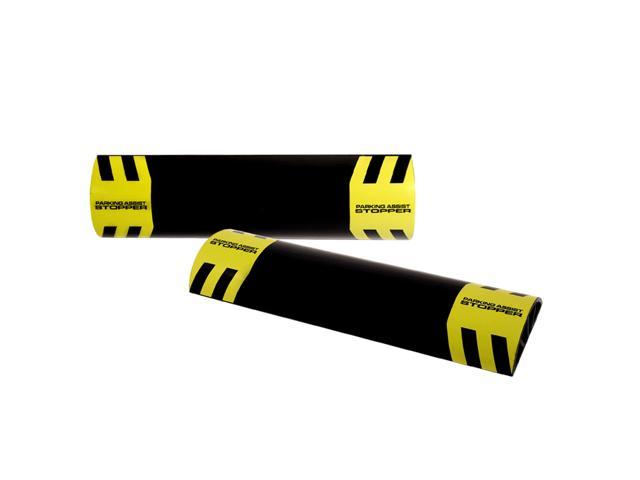 Pair Garage Parking Aid Park Target Guide Tire Wheel Stopper
