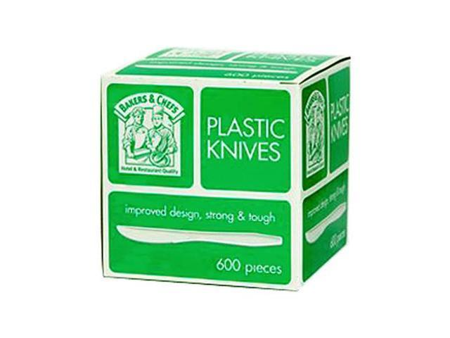 Bakers & Chefs Plastic Knives - 600 ct.