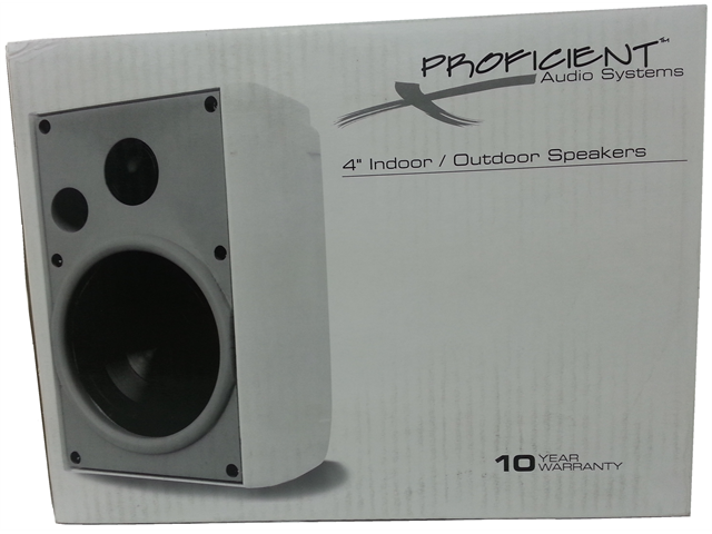 "Proficient Audio Systems AW400 4"" Indoor/Outdoor Speakers - Black"