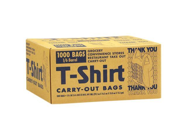 T-Shirt Carryout Bags - 1000 ct.