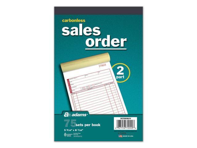 Carbonless Sales Order Book - 75 sets per book