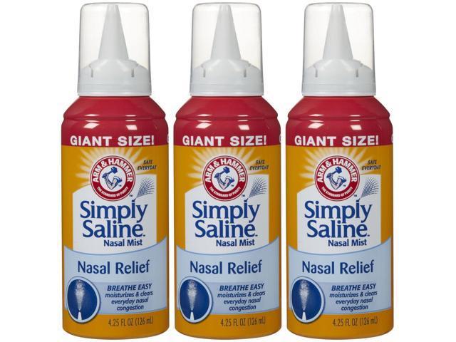 ARM & HAMMER Simply Saline Nasal Relief - 4.25 oz. - 3 pk.