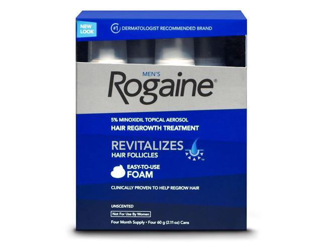 Men's Rogaine Foam-Rogaine Hair Regrowth Treatment, 4/2.11 oz. (4 Month Supply)
