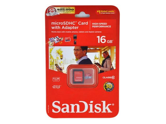 SanDisk 16GB Micro SDHC Class 10 Memory Card