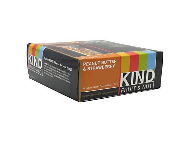 KIND Fruit & Nut - Peanut Butter & Strawberry - Box of 12 Bars by Kind