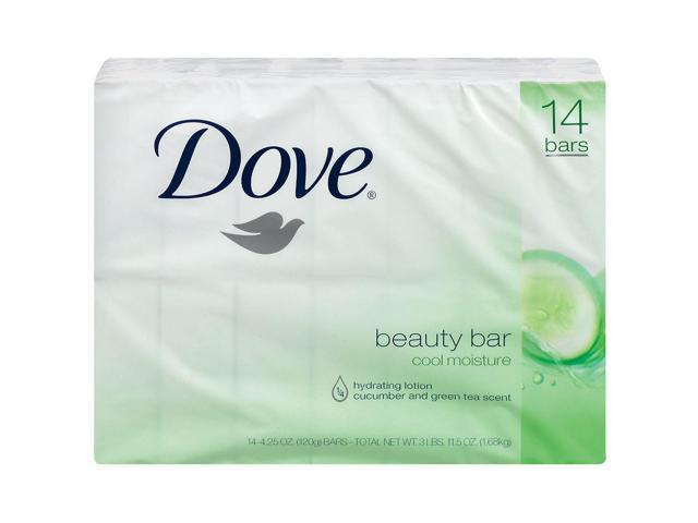 Dove Cool Moisture Beauty Bar, 14 Count