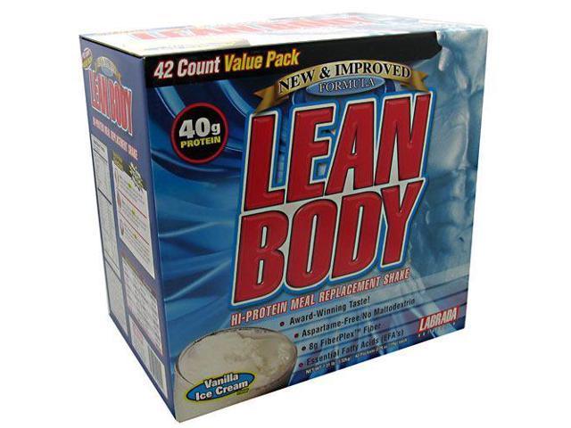 Lean Body Vanilla Ice Cream Flavor, 42 Packets, 2.78 oz (79 g) Each, From Labrada Nutrition