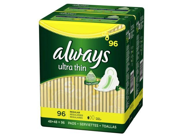 Always Ultra Thin Regular Pads with Wings - 96 ct.