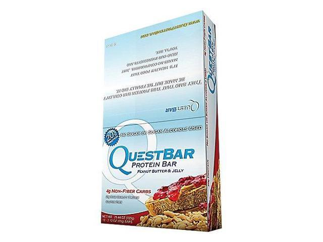 Quest Nutrition 6340035 Quest Bar Peanut Butter & Jelly, 12 Per Box