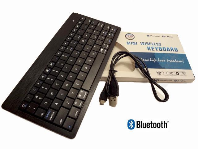 GSAstore - Ultra thin Mini Wireless Bluetooth Keyboard with Built-in Rechargeable Battery. Compatible: Windows, Mac OS, Android and Most Bluetooth Enabled Multi Media Devices. Ultra Thin