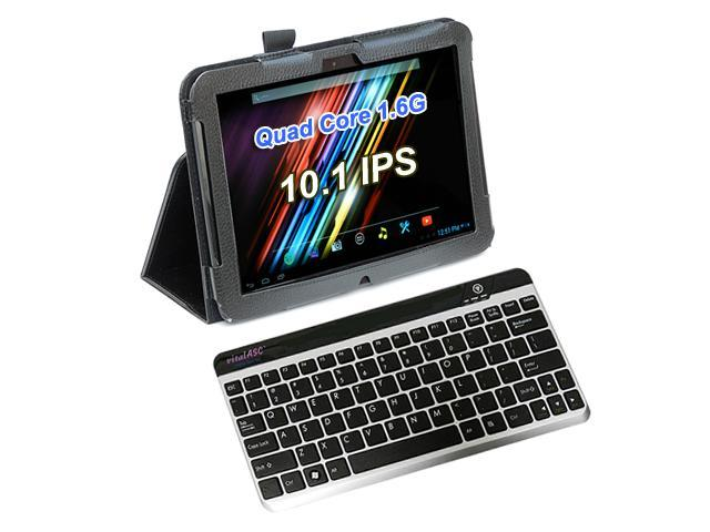 """vitalASC ST1011 All-in-One 10.1"""" Android Tablet PC + Leather Case/Stand + Bluetooth Keyboard"""