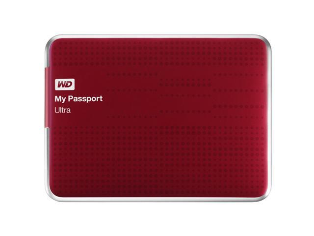 wd my passport ultra 2tb portable external hard drive usb 3 0 with auto and cloud backup red. Black Bedroom Furniture Sets. Home Design Ideas