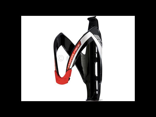 Elite Custom Race Water Bottle Cage: Black/Red