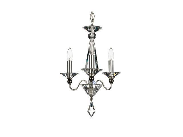 Schonbek 9673-40SP 3-Light Jasmine Mini Chandelier, Polished Silver