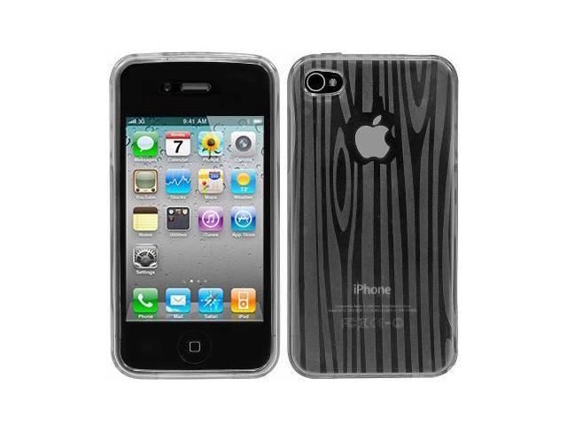 Cellet Apple iPhone 4 & 4S Clear Wood Shade Flexi Case