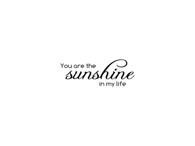 Magenta Cling Stamps-You Are The Sunshine In
