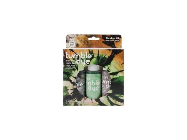 Tumble Dye Craft And Fabric Dye Kit-Camo-Brown/Green/Charcoal