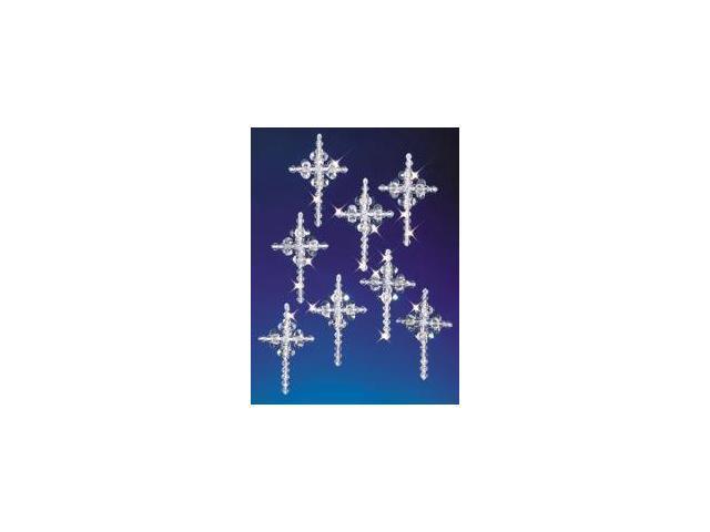 Holiday Beaded Ornament Kit-Crystal Crosses 2