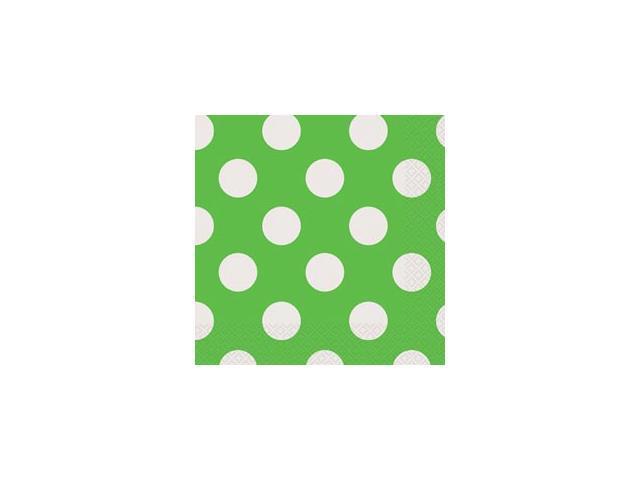 Luncheon Napkins 16/Pkg-Lime Green Decorative Dots