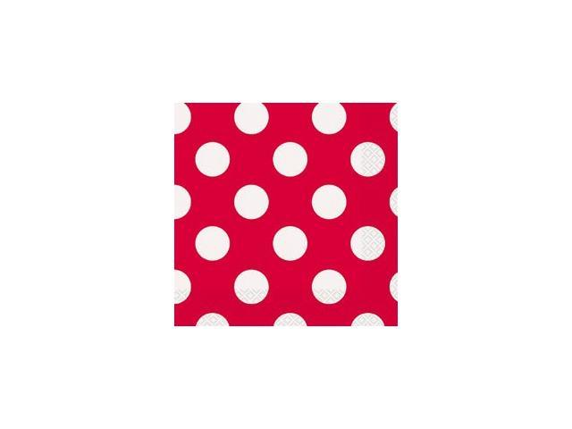Luncheon Napkins 16/Pkg-Ruby Red Decorative Dots