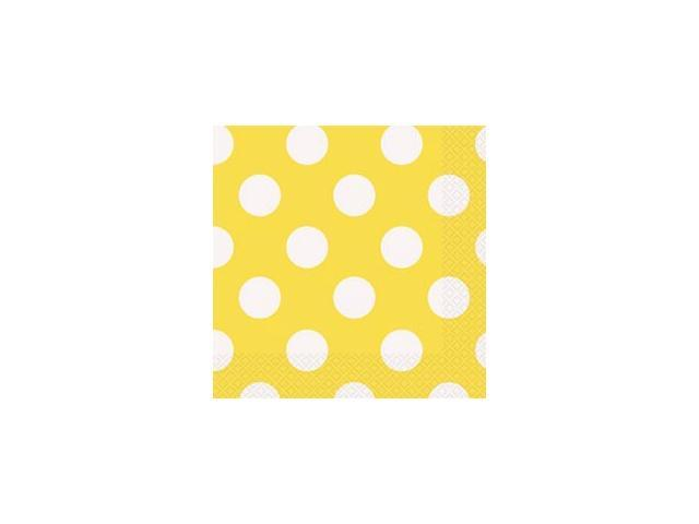 Luncheon Napkins 16/Pkg-Sunflower Yellow Decorative Dots