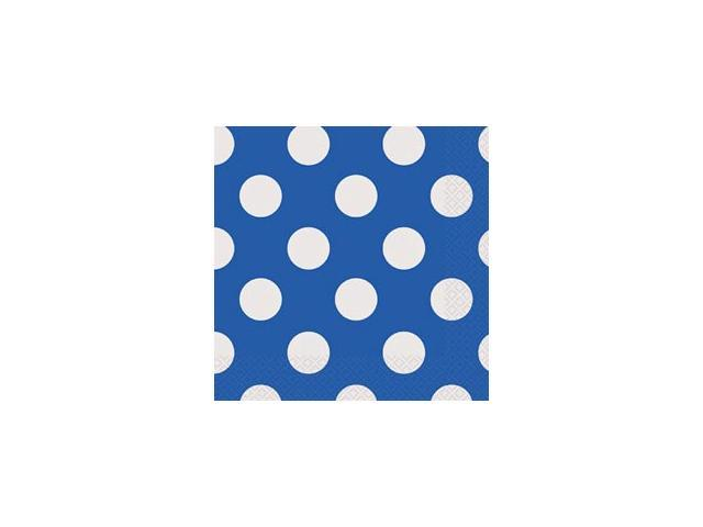 Luncheon Napkins 16/Pkg-Royal Blue Decorative Dots
