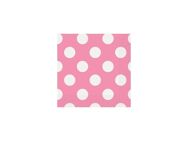Luncheon Napkins 16/Pkg-Hot Pink Decorative Dots