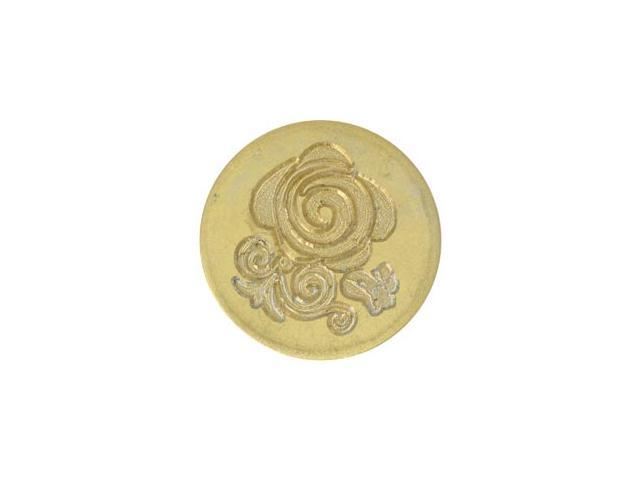 Large Decorative Seal Coin-Rose