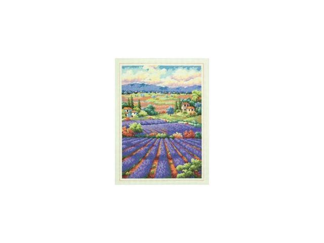 Gold Collection Fields Of Lavender Counted Cross Stitch Kit-16