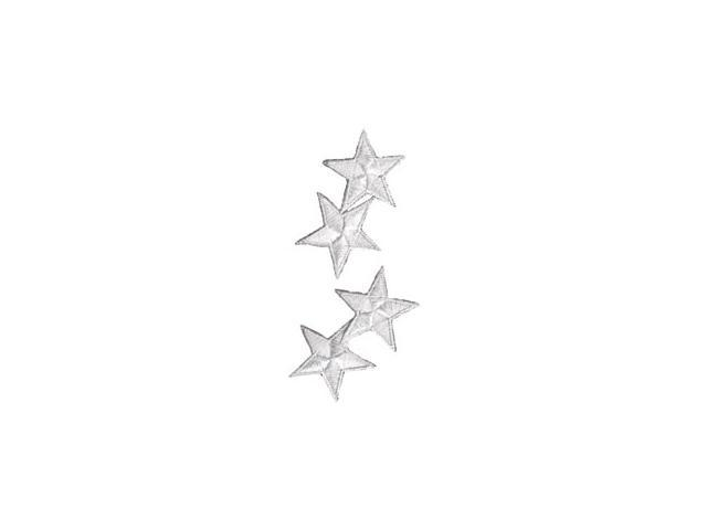 Wrights Iron-On Appliques-White Star 1-1/4
