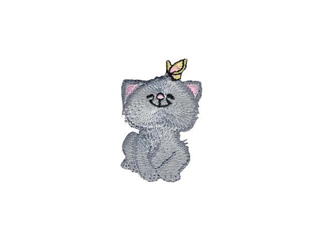 Wrights Iron-On Appliques-Cat W/Butterfly 2
