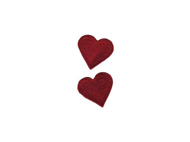 Wrights Iron-On Appliques-Red Hearts 1-3/4