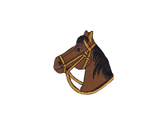 Wrights Iron-On Appliques-Brown Horse 2-3/4