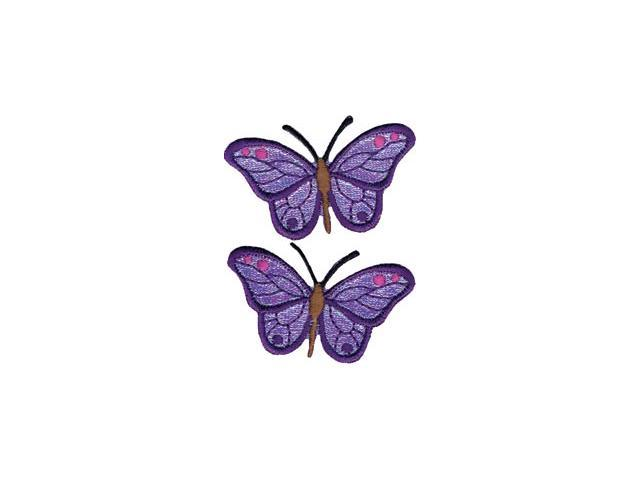 Wrights Iron-On Appliques-Iridescent Butterflies 2-7/8