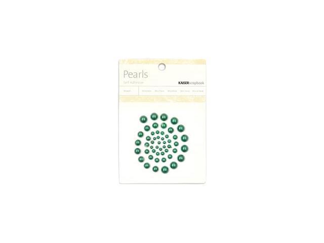 Self-Adhesive Pearls 50/Pkg-Green
