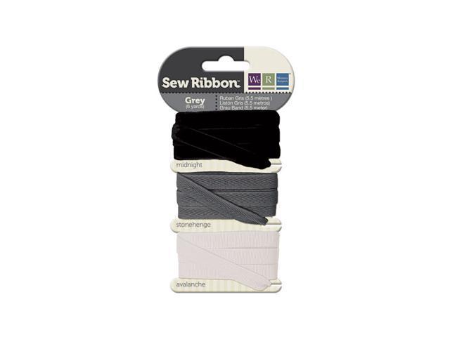 Sew Ribbon Ribbon 3/Pkg 9/Yds Total-Grey