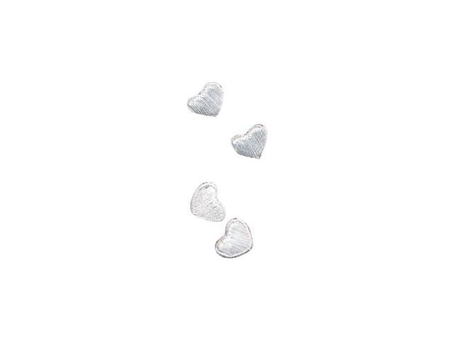 Wrights Iron-On Appliques -White Hearts 3/8