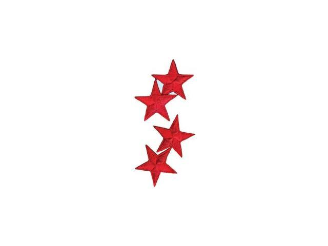 Wrights Iron-On Appliques-Red Stars 1-1/4