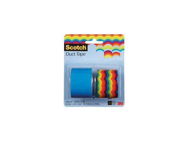 Scotch Duct Tape 1.42 in x 5 yd Rainbow 2/PK