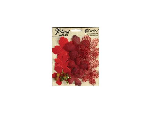 Mixed Textured Layers 12/Pkg-Red
