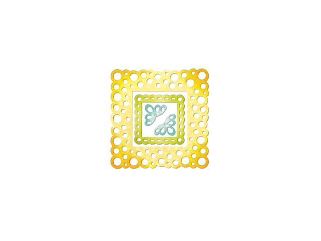 Sizzix Thinlits Dies 4/Pkg-Frame Layers; Scallop Polka Dot