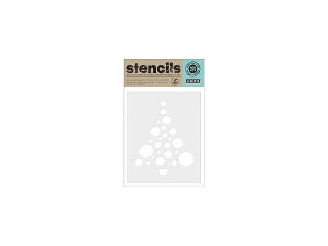 Hero Arts Stencils-Circle Christmas Tree