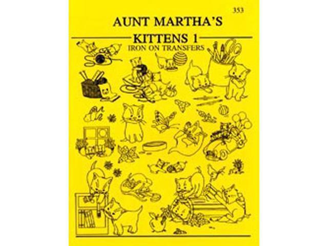 Aunt Martha's Iron-On Transfer Books-Kittens
